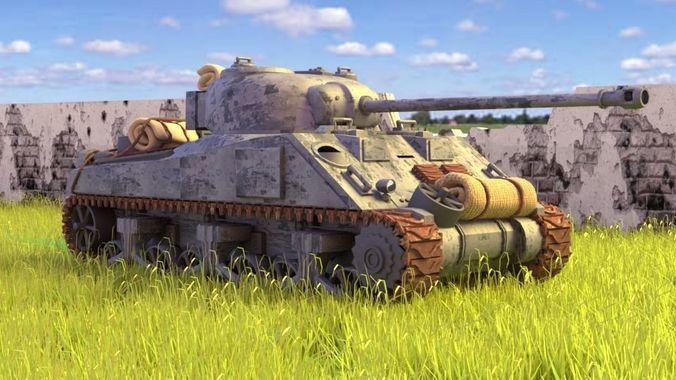 Sherman Firefly Tank WW2   3D model