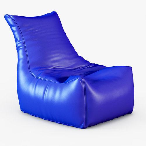 3D model Style Homez Royal Blue Chair Bean Bag CGTrader