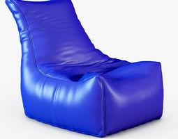 Style Homez Royal Blue Chair Bean Bag 3D Model