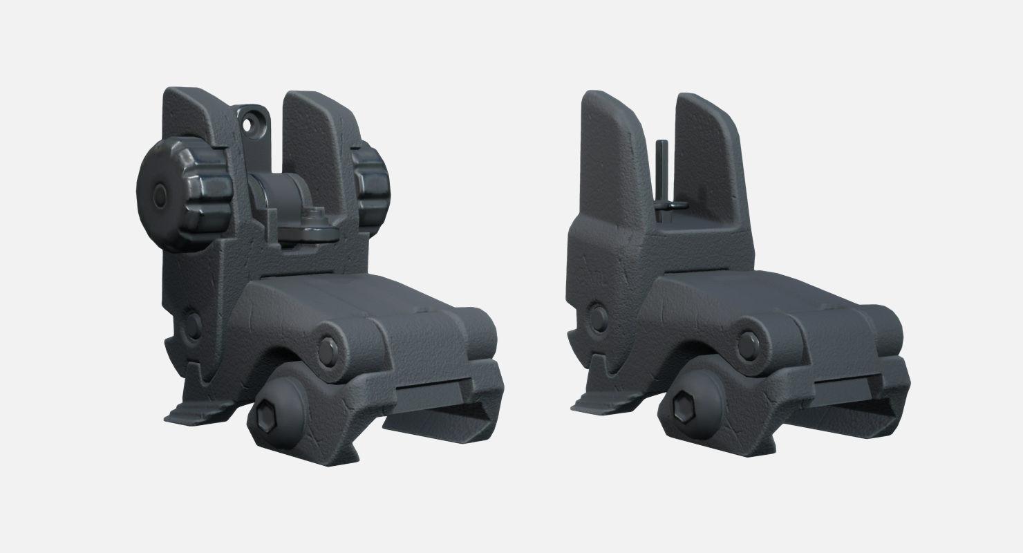 Adjustable Folding Iron Sights