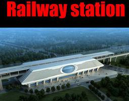 3d model railway station 026