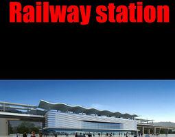 railway station 027 3d