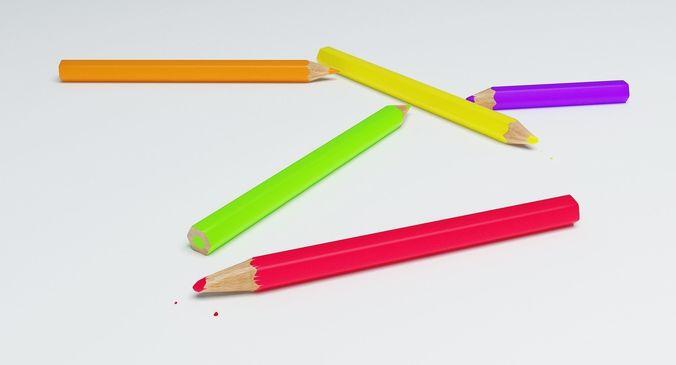 coloring pencils 3d model max obj mtl fbx 1