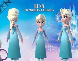 low-poly Elsa cartoon 3d models low poly 2018
