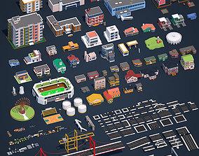 3D asset Low Poly City Pack 2