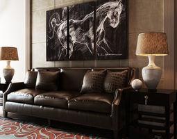 sofa interior scene 3D model