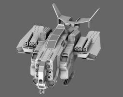 Hornet Fighter Interceptor 3D Model