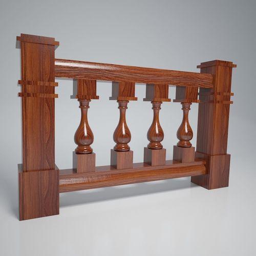 balustrade vase wood kit 3d model max obj mtl fbx dae mat 1