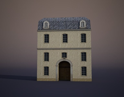 3D model game-ready Apartment House