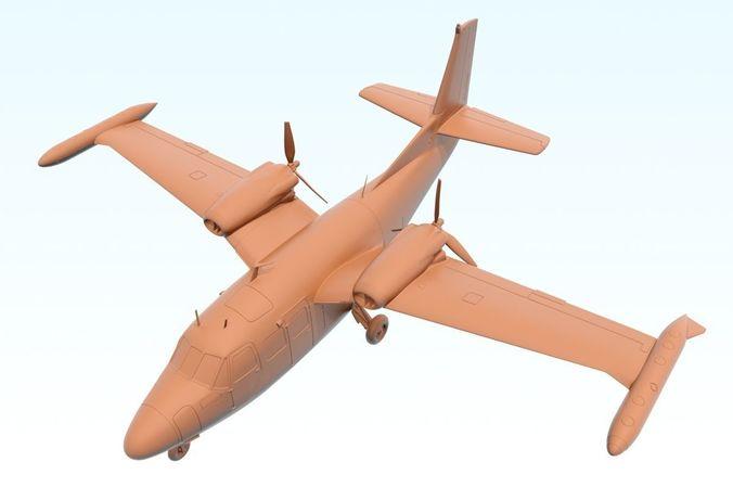 piaggio p166s albatross 3d model stl 1