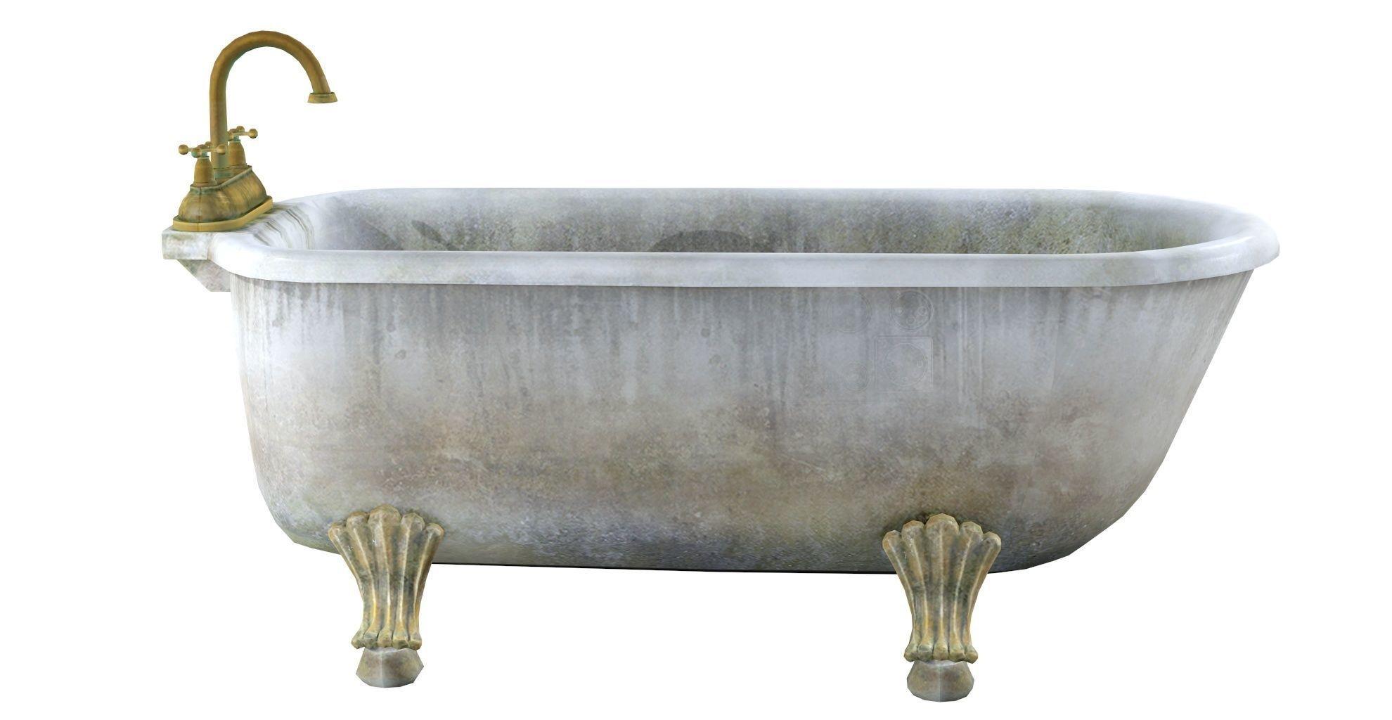 3D model Old bathtub   CGTrader