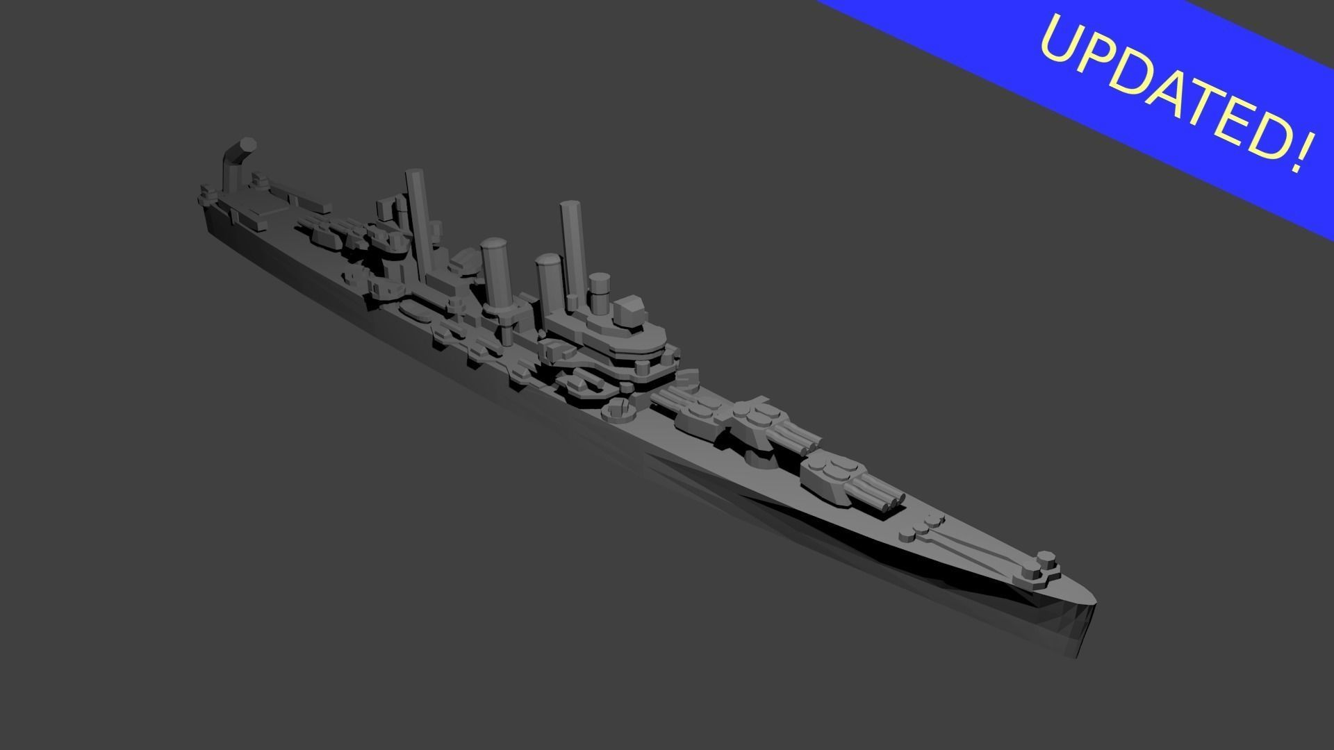 US Brooklyn Class Cruiser Warship