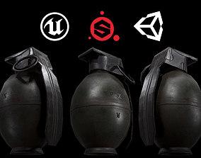hand grenade 3D asset realtime