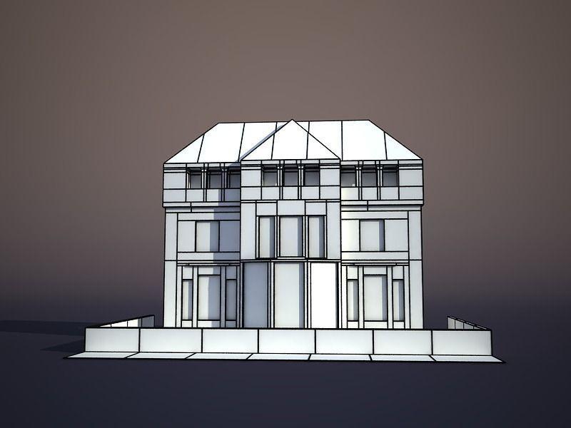 3d model apartment house 26 vr ar low poly obj 3ds fbx for Apartment model house