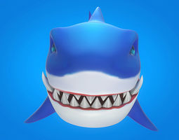 3D model Cartoon Shark 02