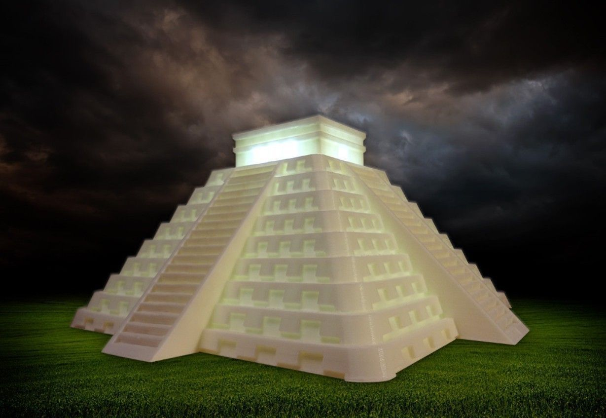 4 Foot Led Lights >> Temple of Kukulkan at Chichen Itza 3D Model 3D printable ...
