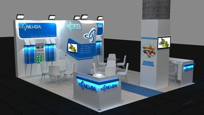 Exhibition Stand Free D Model : D exhibition stand model max cgtrader