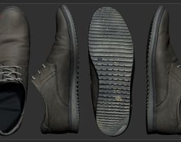 3D model Leather shoe