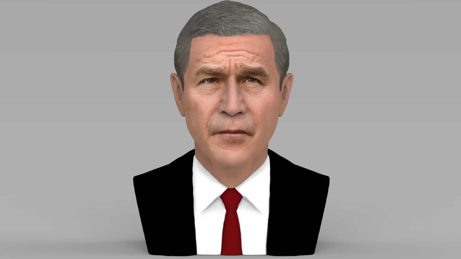 President George W Bush bust ready for full color 3D printing