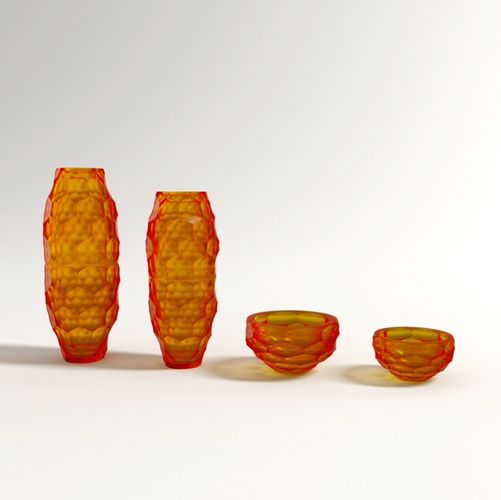 3d Model Murano Vases From Paolo Castelli Design By 2