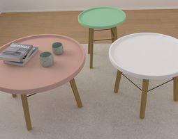 Set of Tables 3D model