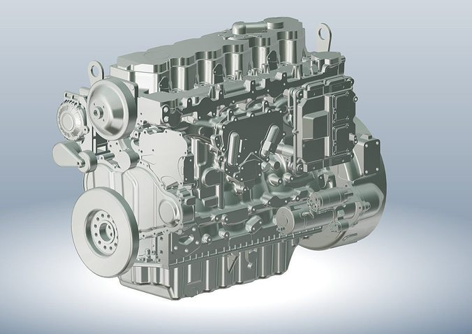 engine cat 3d model  1