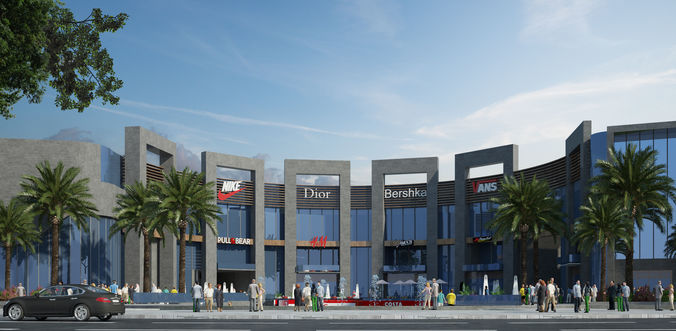 shopping mall 3d 3d model max tga 1