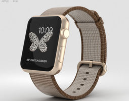 Apple Watch Series 2 42mm Gold Aluminum Case Toasted 3D