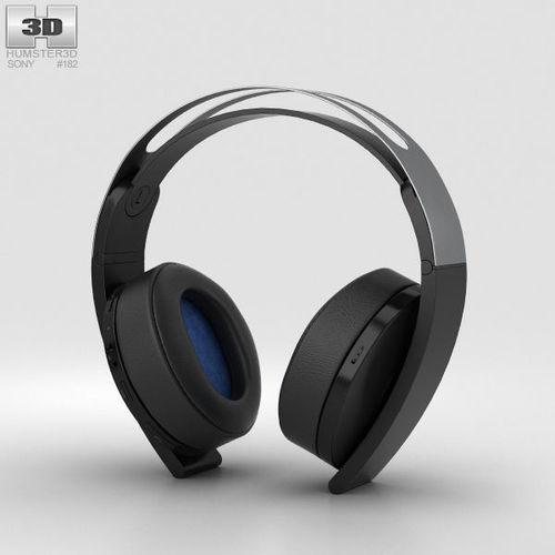 sony playstation 4 platinum wireless headset 3d model max obj mtl 3ds fbx c4d lwo lw lws 1
