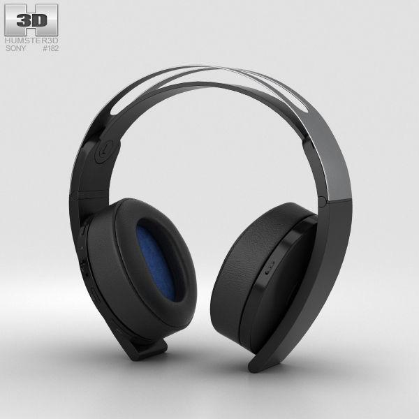 Sony Playstation 4 Platinum Wireless Headset 3d Cgtrader