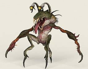 3D asset Game Ready Wild Monster