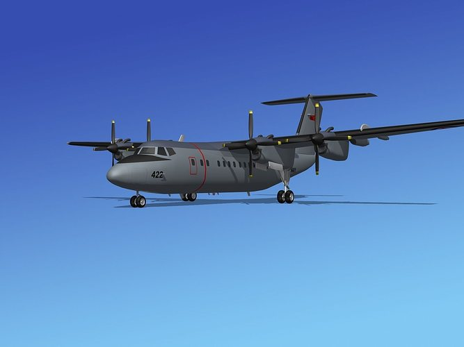 dehavilland dhc-7 canadian navy 3d model max obj mtl 3ds lwo lw lws stl 3dm 1