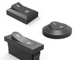3D asset Rocker Switchs