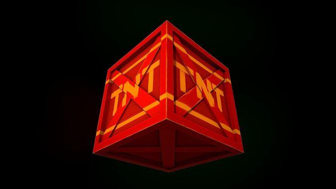 tnt box 3d model obj mtl 3ds fbx dae abc 1