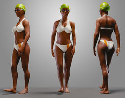 SwimmingpoolgirlBCasualA  3D Model