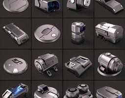 3D model Sci Fi KitBash 02 pack