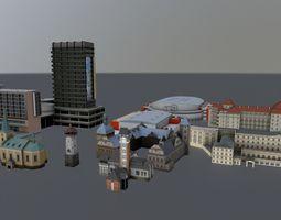 PBR 3d model karlovy vary buildings  pack