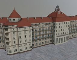 Karlovy Vary Hotel Imperial 3D asset
