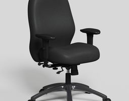 Black Office Chair high def rev-02 3D model