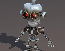 Cartoon Robot Riged 3D Model