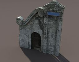 Castle Ruin Pack Low poly 3d Model 2 3D Model
