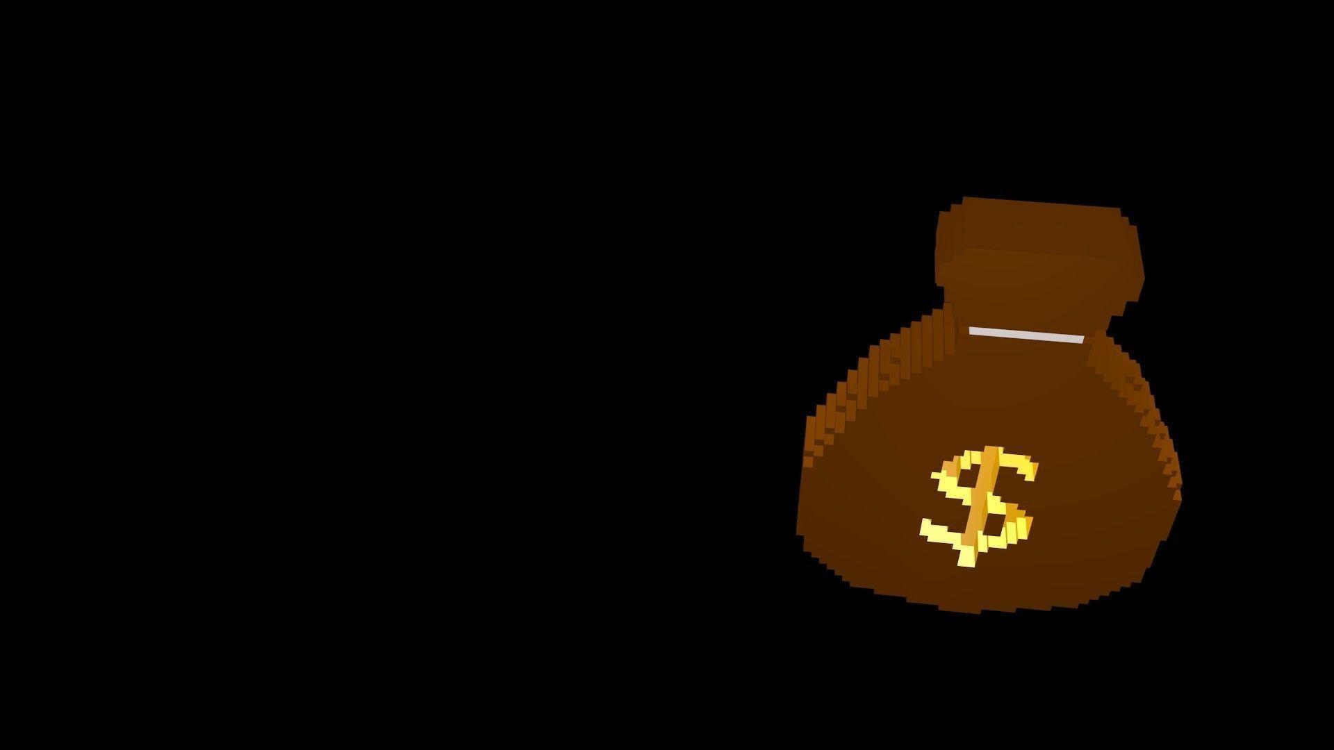 Symbols of money voxel 1
