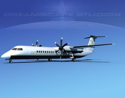 3D Dehaviland DHC-8 400 Central Express