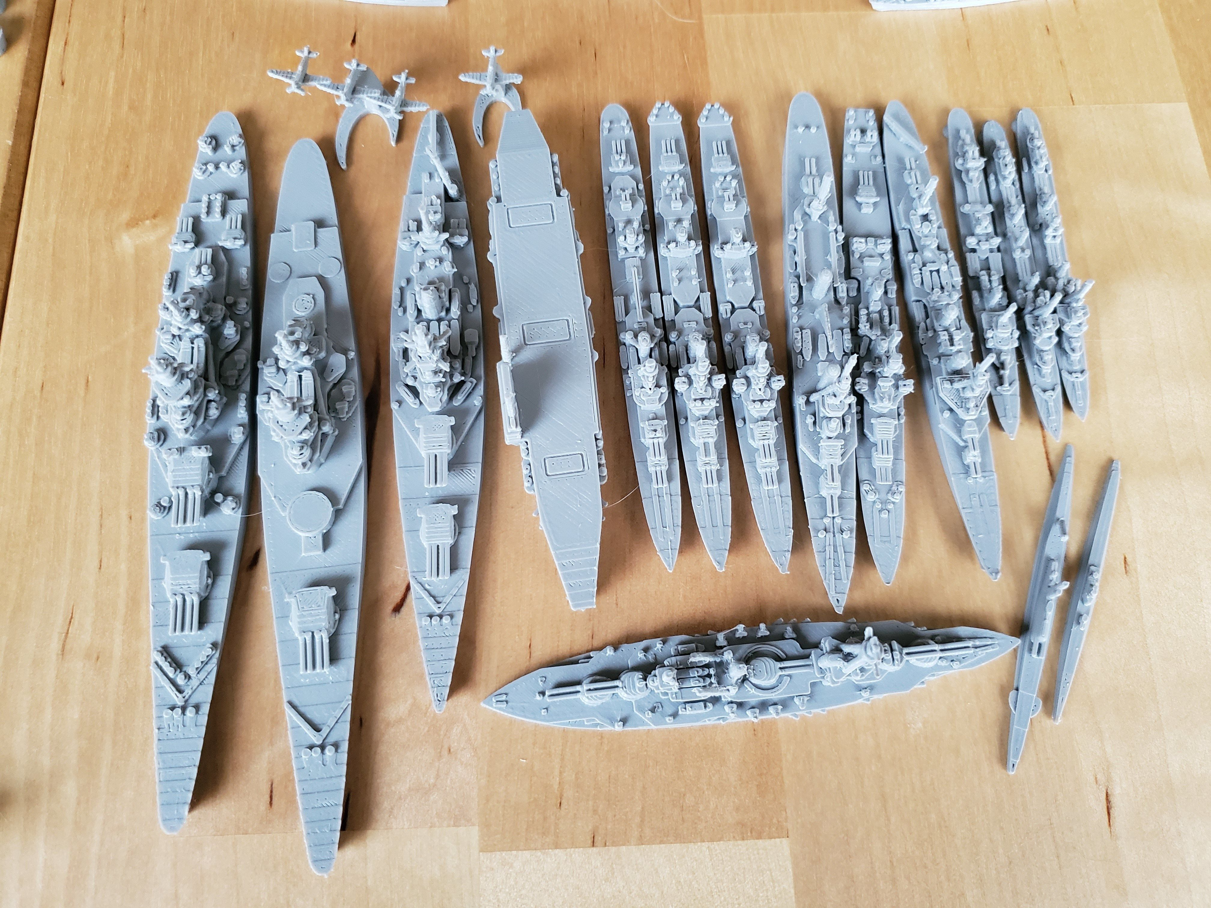 French Miniature WWII Warship Collection