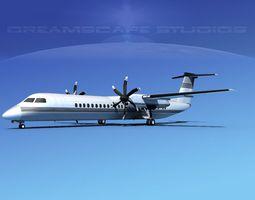 Dehaviland DHC-8 400 Corporate 2 3D