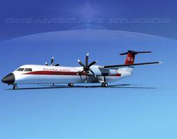 3D Dehaviland DHC-8 400 Richards Aviation