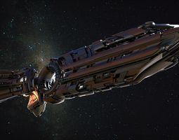 3D model Spaceship Concept