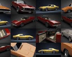 3D model 1968-1969 American muscle cars