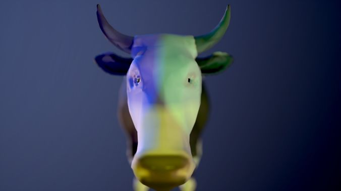 cow low poly  3d model low-poly max obj mtl 3ds fbx c4d ma mb 1