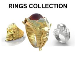 Ring Collection 3D model